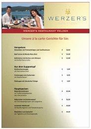 werzer's restaurant Velden