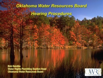 Oklahoma Administrative Hearings - Association of Western State ...