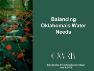 Balancing Oklahoma's Water Needs - Association of Western State ...
