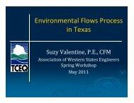 Environmental Flows Process in Texas - Association of Western ...