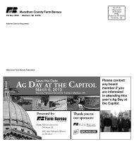 Marathon Newsletter February 2013 - Wisconsin Farm Bureau ...