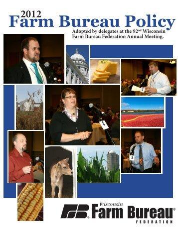 Farm Bureau Policy - Wisconsin Farm Bureau Federation