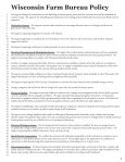 Farm Bureau Policy - Wisconsin Farm Bureau Federation - Page 7