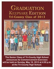 Tri-County Class of 2012 - Fremont-What Cheer Vine & New Sharon ...