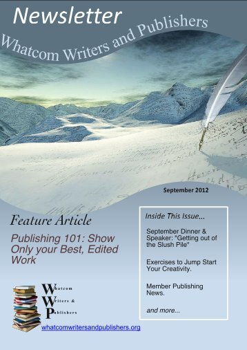 September 2012 - Whatcom Writers and Publishers
