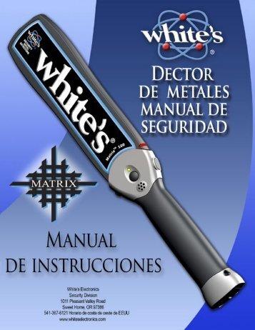Baterías - White's Metal Detectors