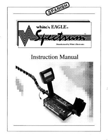 spectrum xlt instruction manual pdf white s metal detectors rh yumpu com Whites DFX Metal Detector Best All around Metal Detector