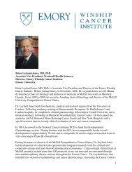 1 Brian Leyland-Jones, MD, PhD Associate Vice President, Woodruff ...