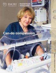 Can-do compassion - Woodruff Health Sciences Center - Emory ...