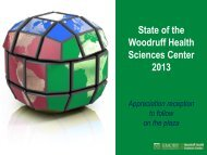 State of the Woodruff Health Sciences Center 2013