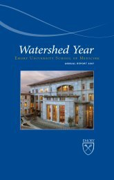 Watershed Year - Woodruff Health Sciences Center - Emory University