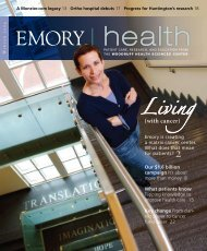 Living - Woodruff Health Sciences Center - Emory University