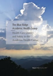 The Blue Ridge Academic Health Group - Woodruff Health Sciences ...