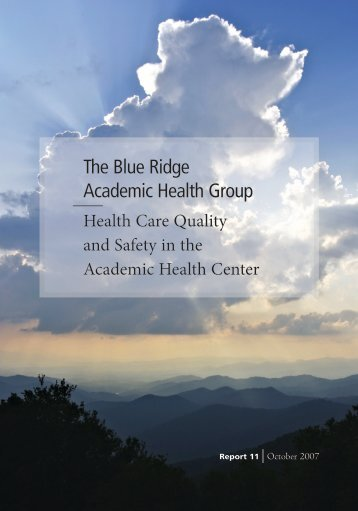 The Blue Ridge Academic Health Group - Woodruff Health Sciences ...