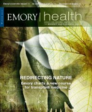 redirecting nature - Woodruff Health Sciences Center - Emory ...
