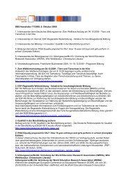 DBS Newsletter 17/2009, 9. Oktober 2009 1. Interessantes beim ...