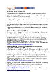 DBS Newsletter 19/2008, 31. Oktober 2008 1. Interessantes beim ...