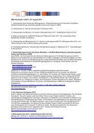 DBS Newsletter 15/2011, 24. August 2011 1. Interessantes beim ...