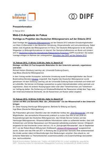 Web-2.0-Angebote im Fokus - Deutscher Bildungsserver