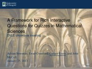 A Framework for Rich Interactive Questions for Quizzes ... - CETIS Wiki