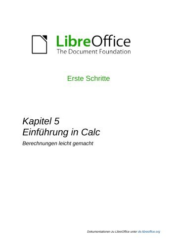 Einführung in Calc - The Document Foundation Wiki