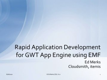 Rapid Application Development for GWT App Engine using EMF