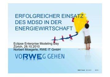 erfolgreicher einsatz des mdsd in der energiewirtschaft