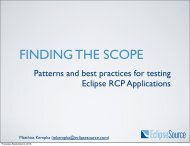 Patterns and best practices for testing Eclipse RCP Applications