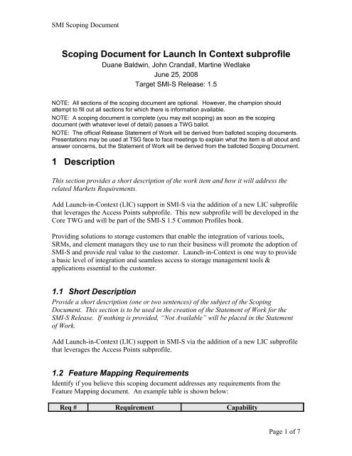 Scoping Document Template For 1 4