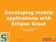 Developing mobile applications with Eclipse Scout - EclipseCon