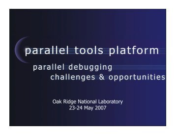 parallel debugging challenges & opportunities