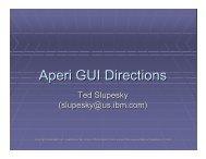 Aperi GUI Directions