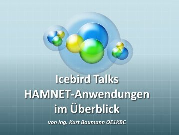 Anwendungen im HAMNET - OE Wiki - ÖVSV