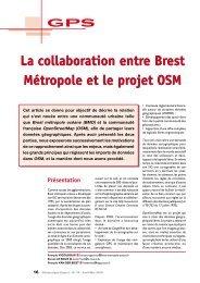 Article d'origine dans le magazine Géomatique Expert ... - Wiki-Brest