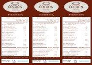 Cocoon Chelsea Transition Menu June 12.indd - Wiki Village