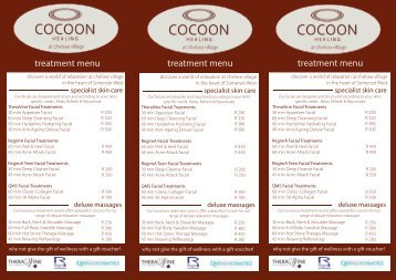 Cocoon Chelsea Transition Menu June 12.indd - Wiki Village