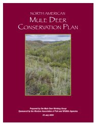 MULE DEER CONSERVATION PLAN - Colorado Division of Wildlife