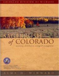 Sagebrush of Colorado manual - Colorado Division of Wildlife