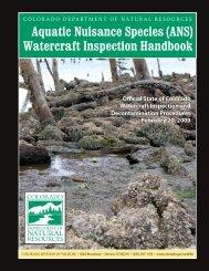 Watercraft Inspection Handbook - Colorado Division of Wildlife ...