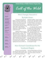 DOW Volunteer Program News: Call of the Wild - Colorado Division ...