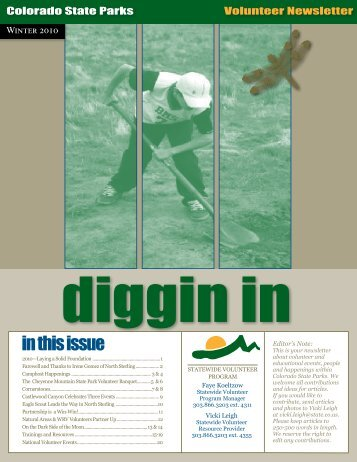 Diggin Winter 2010 - Colorado Division of Wildlife - Colorado.gov