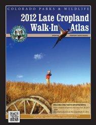 2012 Late Cropland Atlas - Colorado Division of Wildlife
