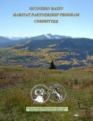 GunnisonApprovedPlan - Colorado Division of Wildlife