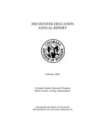 HE 2003 Annual Report - Colorado Division of Wildlife