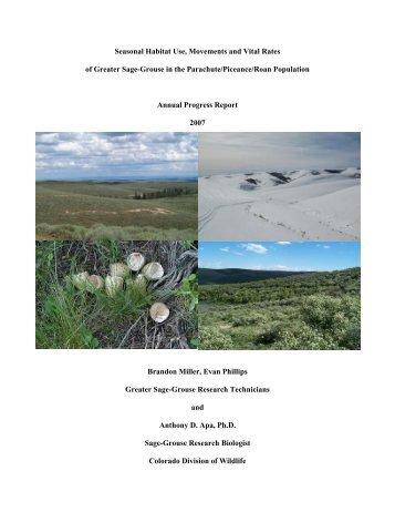2007 PPR Progress Report - Colorado Division of Wildlife