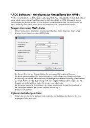 Anleitung zur Umstellung der Mwst - ARCO Software AG