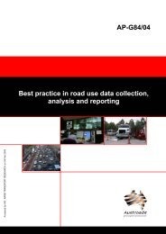 AP-G84/04 Best practice in road use data collection, analysis ... - WIM