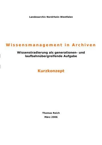 Transferarbeit Thomas Reich, 37 - Archive in Nordrhein-Westfalen