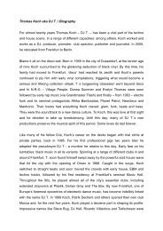 Thomas Koch aka DJ T. / Biography - The Windish Agency