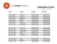 coachella 2011 - The Windish Agency